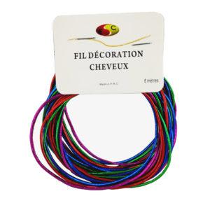 Fil déco cheveux multicolore