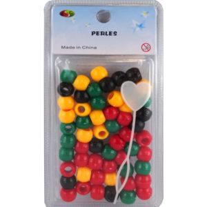 Perles plastique Rasta